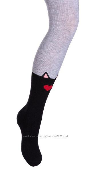 Модные колготы UCS SOCKS с имитацией гольфов с котиками.