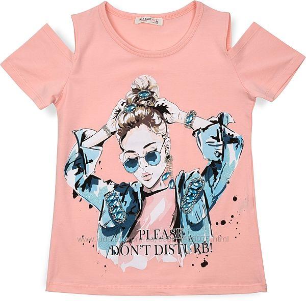 Классная футболка с принтом модной девчонки от 8 - 14 лет. Два цвета.