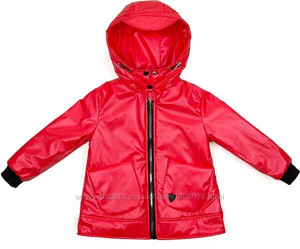 Стильная демисезонная куртка с капюшоном для девочки на 6 - 9 лет.