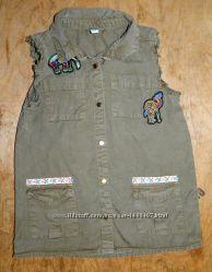Рубашка от River Island на девочку 3-4 лет 104 см в отличном состоянии