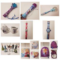 Микрофон, посуда, часы, подушка, рюкзак Disney Frozen Эльза и Анна