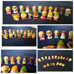 Коллекция фигурок куколок, черепах, акул и Семь гномиков Белоснежка