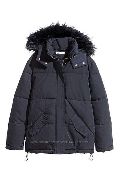 Новая утеплённая зимняя парка h&m куртка пуховик с биркой оверсайз