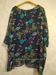 Блуза в цветочный принт made in italy
