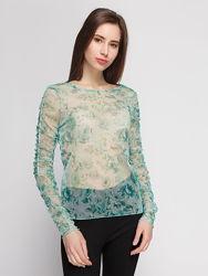 Новая блуза Гольфик сетка в цветы бренда  zara, р. м
