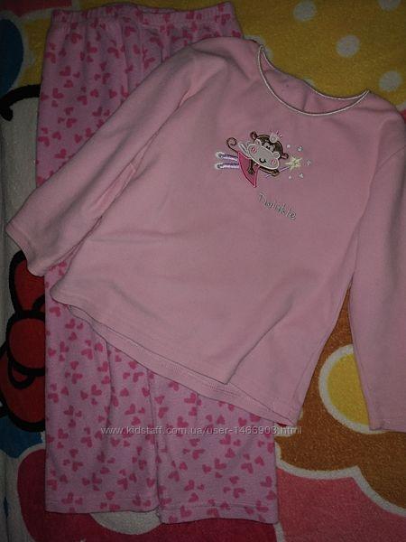 Флисовая, теплая пижама 5-7лет