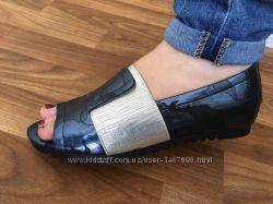 Оригинальные мокасины с открытым носком, 36 размер