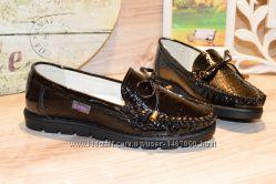 Лаковые туфли для девочки, 33 размер