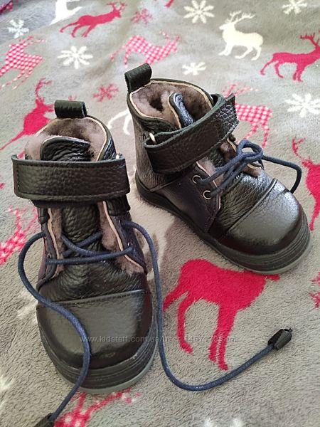 Ботинки зимние кожаные на натуральном меху 21