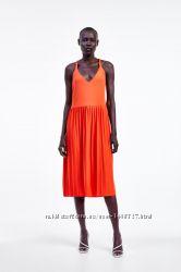 Zara Платье с плиссировкой