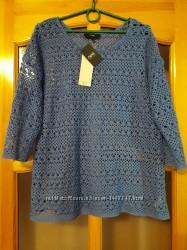 Ажурная кофточка, реглан, блуза от  Next. Размер 50.