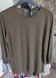 Блуза с длинным рукавом massimo dutti