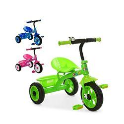Детский трехколесный велосипед с багажником M 3252 - 3 цвета