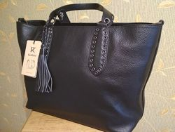 Жіноча шкіряна сумка Kattee Women&acutes Leather Tote Shoulder Bag Dual-sha