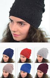 Трикотажные шапки женские и на девочек подростков