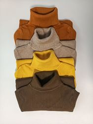 Женский гольф размер XS/S/M коричневый, серый, беж, терракот, желтый