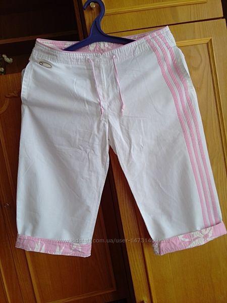Бриджи белые летние штаны Adidas размер М или 14 британ.