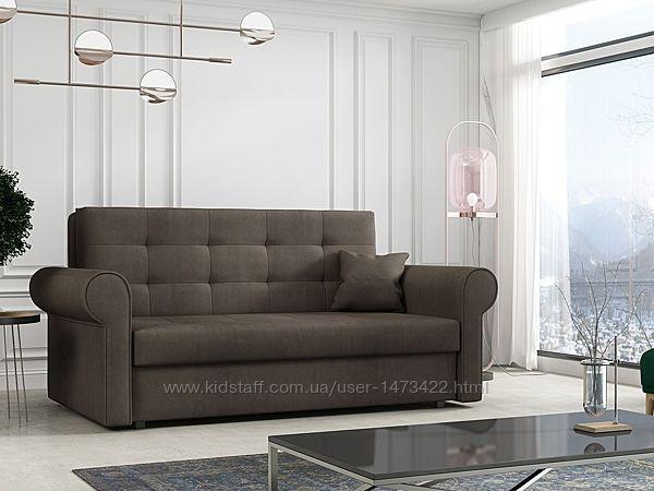 Мягкий диван Clivia с доставкой на дом. Прочные материалы. Механизм Еврокни
