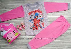 Тёплые и тонкие пижамы лол леди Баг принцессы София костюм штаны кофта