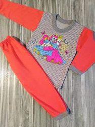 Теплая пижама принцесса комплект кофта штаны