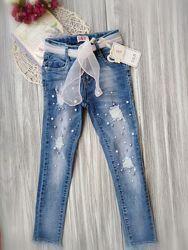 Джинсы с жемчужинами джеггинсы Венгрия джинсы с бусинками