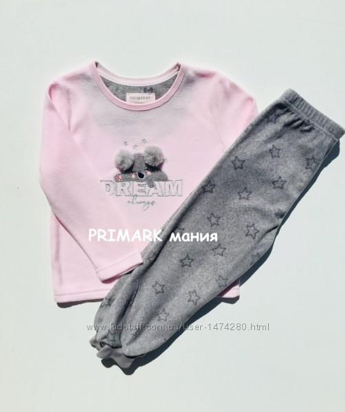Флисовые пижамы для девочек 1-7лет PRIMARK