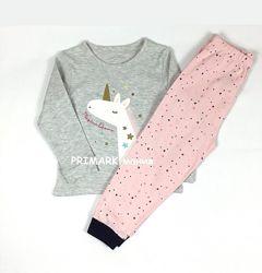Трикотажные пижамы для девочек 1-3года PRIMARK