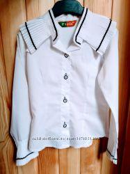 Блузка рубашка школьная Fina 122-128