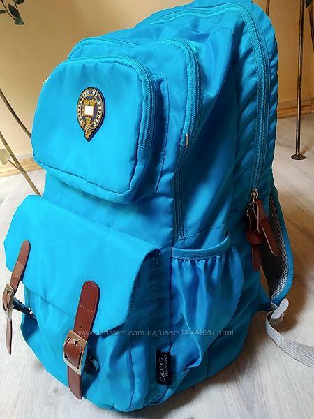 Рюкзак школьный Оксфорд голубой