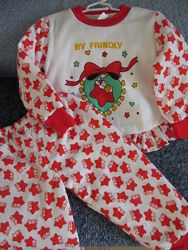 Утепленный костюмчик на синтепоне для маленькой принцессы разм. L 12-18 мес
