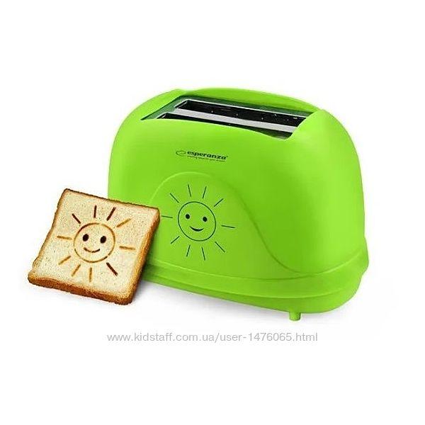 Новый тостер для тостов со смайлами из Европы Esperanza EKT003 с гарантией