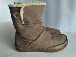 Сапожки, ботинки Clarcs. Кожа. 38р. стелька -25см.