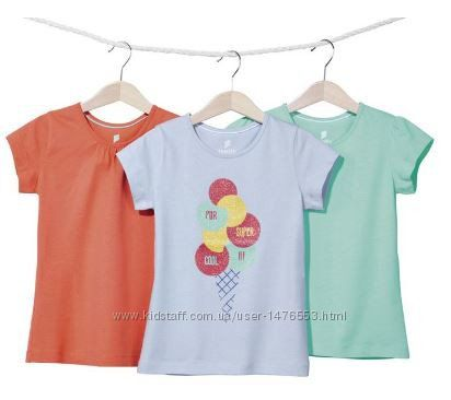 Набор котонових футболок Lupilu с Германии р. 110-116