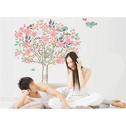 Интерьерная наклейка на стену Дерево с птичками