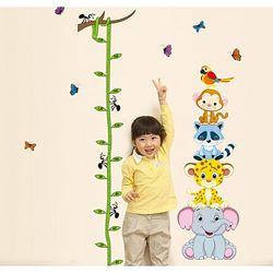 Детская наклейка ростомер Зоопарк