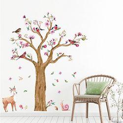 Интерьерная наклейка на стену акварельная Дерево