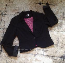 Чёрный пиджак H&M 34 размер