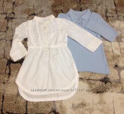 Батистовая блуза и поло на рост 122-128