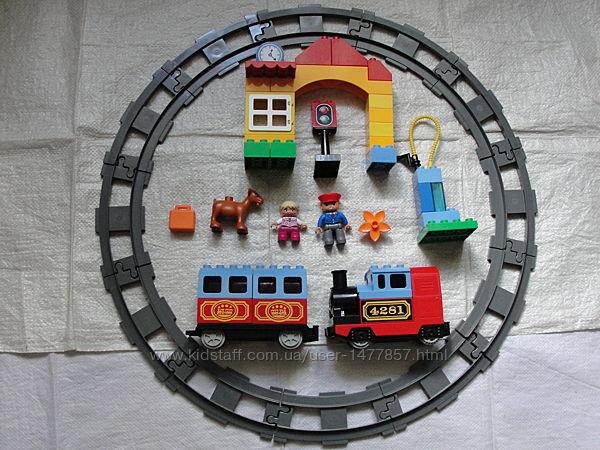 Лего , lego, Дупло, рельсы, железная дорога, вагон, поезд,10507