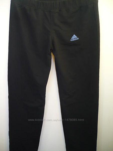 Женские штаны спортивные Adidas черные р.12-14