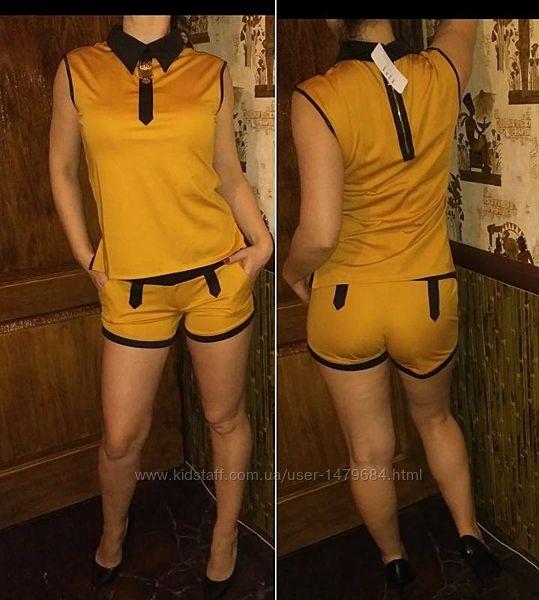 Шикарные летние костюмы горчичного цвета