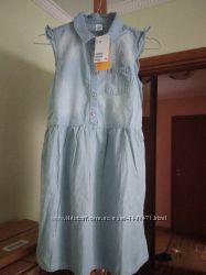 Комплект Н&М плаття джинс і легенси, 9-10 років