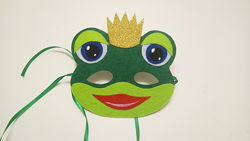 Карнавальная маска из фетра Царевна лягушка, жабки