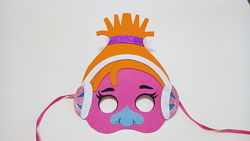 Карнавальные маски Троллей для девочек из фетра