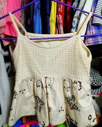платье сарафан George H&M Next 0-3-6-9-12 24месяцев