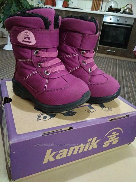 Ботинки kamik для девочки 24размер