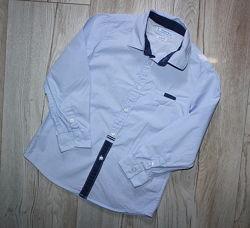 Mayoral Стильная рубашка голубая с длинным рукавом сорочка Mayoral 4 года,