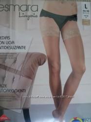 Красивые чулки с широким кружевом на силиконе  Esmara Германия, 20den