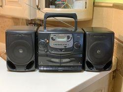 Музыкальный центр Philips AZ 2605, аудиокассета, portable cd mini system ba