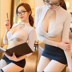 Эротический игровой костюм секретарши сексуальный для ролевых игр